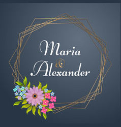 Luxury wedding invitation vector