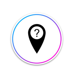 map pointer with question symbol icon isolated on vector image