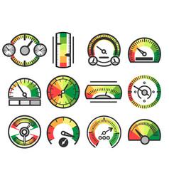 Measuring gauge device icons measurement vector