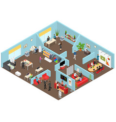 media creators agency interior with furniture and vector image