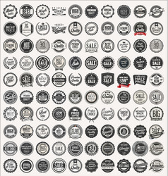 Mega collection retro vintage badges and labels vector