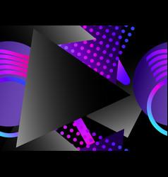 memphis seamless pattern asymmetrical geometric vector image