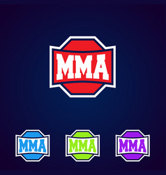 mma modern professional mixed martial arts vector image
