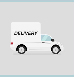 modern commercial delivery vehicle vector image