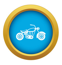 Motorcycle icon blue isolated vector