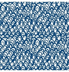 nautical pattern inspired fish skin in blue vector image