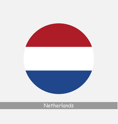 netherlands round circle flag vector image