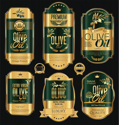 olive oil retro vintage background collection 7 vector image