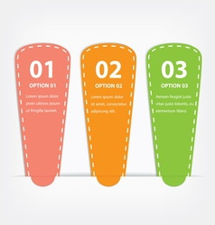paper infographics options vector image