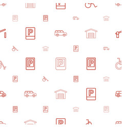 Parking icons pattern seamless white background vector