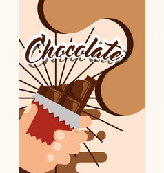 People chocolate candy vector