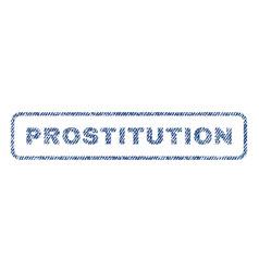 Prostitution textile stamp vector