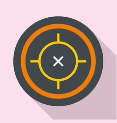Riffle target icon flat style vector