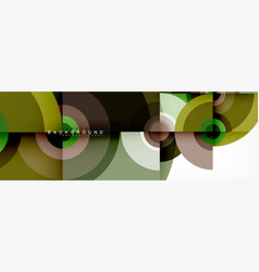round shapes abstract background trendy vector image