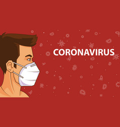 safety mask protect corona virus health care vector image