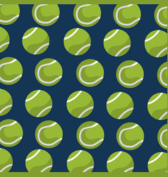 seamless pattern tennis ball equipment blue vector image