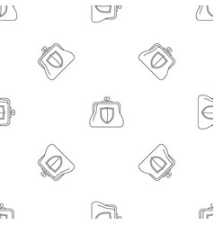 secure purse pattern seamless vector image