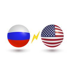 set two icons russian flag and flag usa vector image