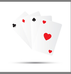 simple playing cards isolated on white background vector image