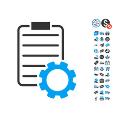 smart contract gear icon with free bonus vector image