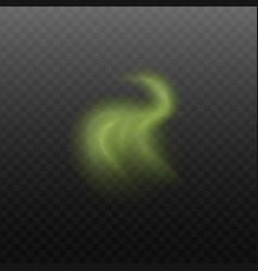 smoke or vapor steam green color vector image