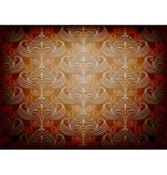 stylish retro wallpaper vector image vector image