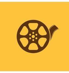 The video icon Movie symbol Flat vector image