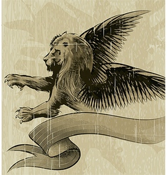 The Winged lion vector image