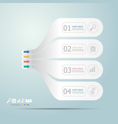 timeline infographics 4 steps for business vector image