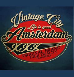 typography emblem t-shirt stamp graphics vintage vector image