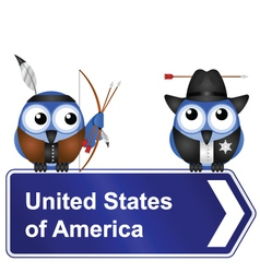 United States of America sign vector image