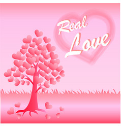 valentine card of love vector image