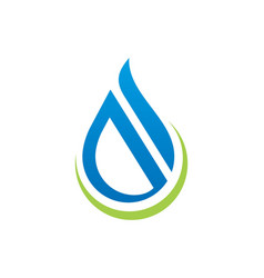 Water drop abstract shape logo vector