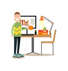 website developer in flat vector image