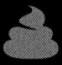 White halftone shit icon vector