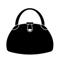 woman handbag fashion style pictogram vector image