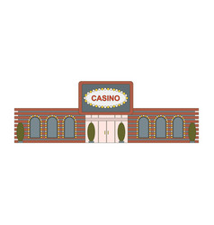 casino building element for game mobile app or vector image vector image
