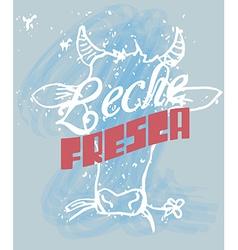Fresh Milk in Spanish vector image vector image
