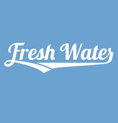 fresh water alphabet with long tail vector image vector image