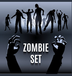 Zombie set vector image vector image
