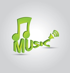 3D music note 2 vector image