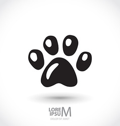 Animal footprint vector image