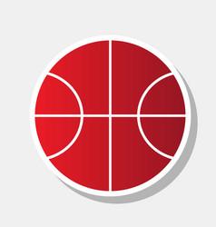 basketball ball sign new vector image