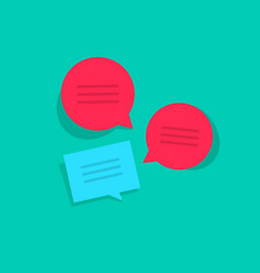 chat online chatting group vector image vector image