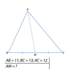 finding the median of the triangle vector image