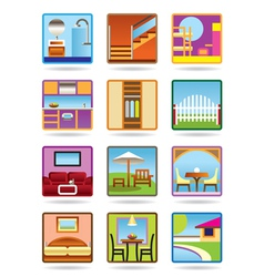 Home and gerden furniture icon set vector image vector image