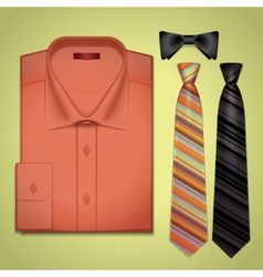 red shirt with a tie vector image vector image