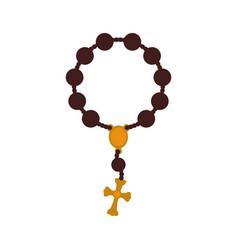 rosary catholic faith vector image vector image