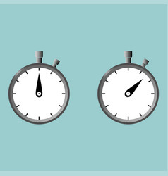 Stop watch second counter with gradient color vector