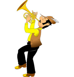 cheerful trumpeter vector image